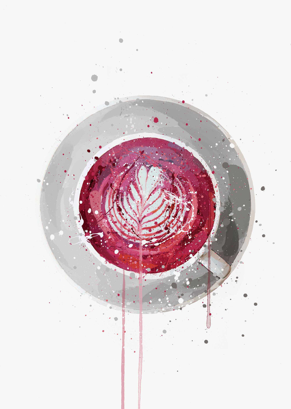 Tea Wall Art Print 'Beetroot Latte'-We Love Prints