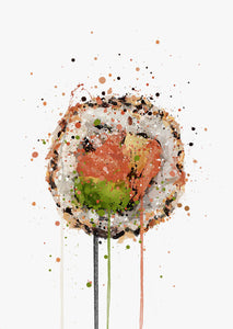 Sushi Wall Art Print 'Salmon Uramaki'-We Love Prints
