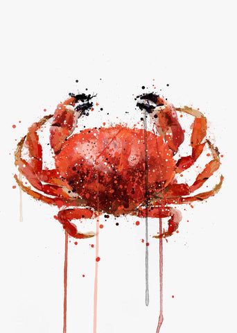 Seafood Wall Art Print 'Red Crab'-We Love Prints