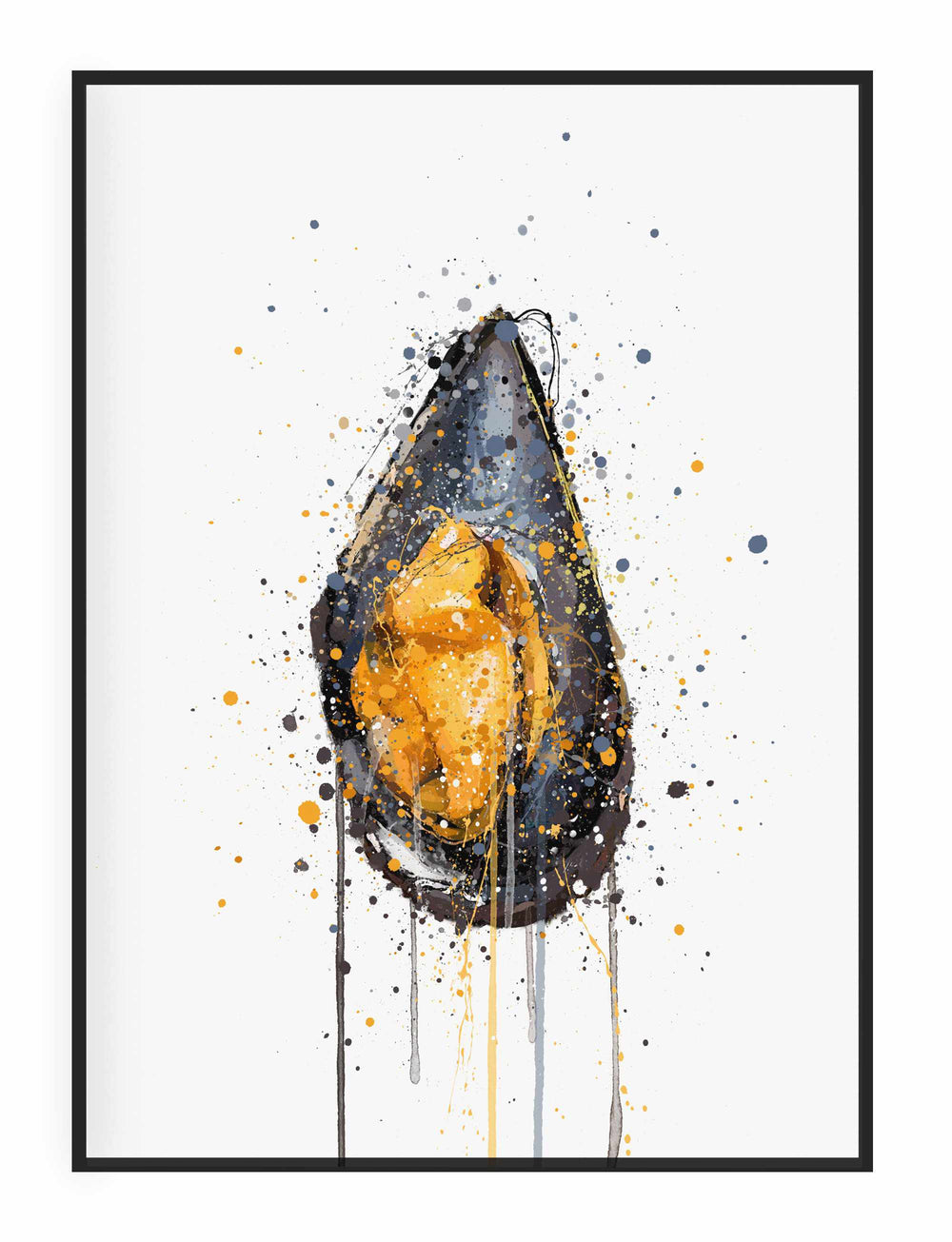 Seafood Wall Art Print 'Mussel'-We Love Prints