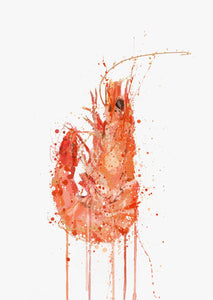 Seafood Wall Art Print 'Prawn'-We Love Prints