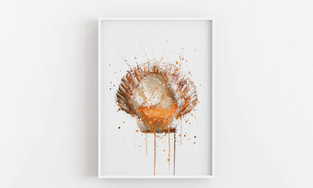 Seafood Wall Art Print 'Scallop'-We Love Prints