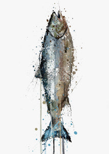 Seafood Wall Art Print 'Salmon'-We Love Prints