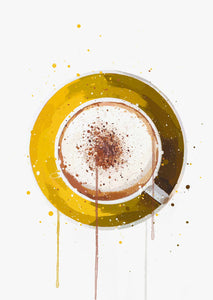 Coffee Wall Art Print 'Cappuccino'-We Love Prints