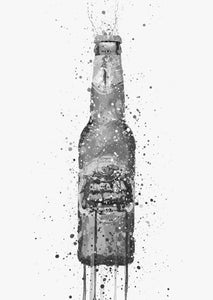 Beer Bottle Wall Art Print 'Peridot' (Grey Edition)-We Love Prints