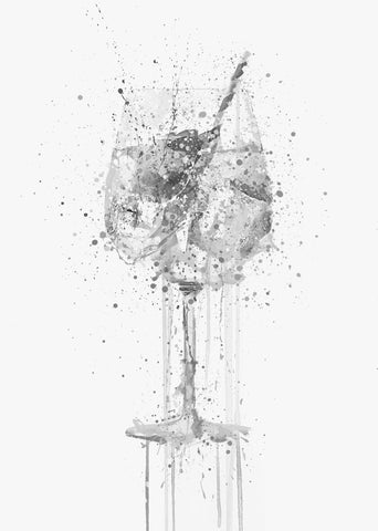 Gin and Tonic 'Goblet' Wall Art Print (Grey Edition)-We Love Prints