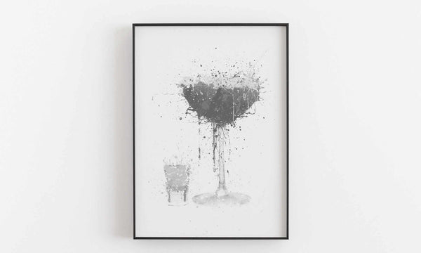 Pornstar Martini Cocktail Wall Art Print (Grey Edition)-We Love Prints