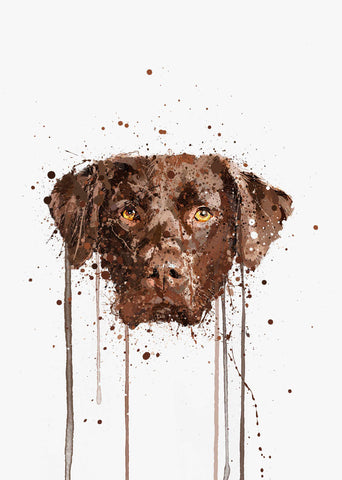 Chocolate Labrador Wall Art Print-We Love Prints