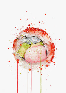Sushi Wall Art Print 'California Roll'-We Love Prints