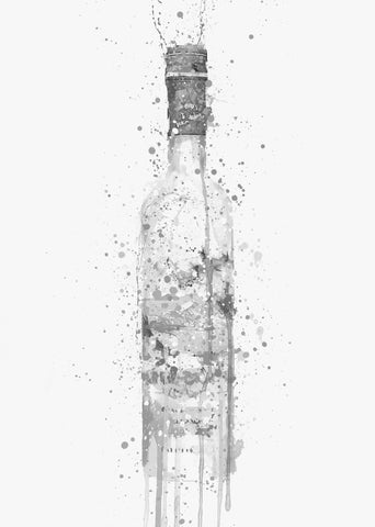 Vodka Bottle Wall Art Print 'Frost' (Grey Edition)-We Love Prints