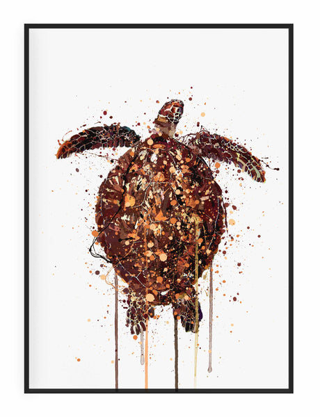 Sea Creature Wall Art Print 'Turtle'-We Love Prints
