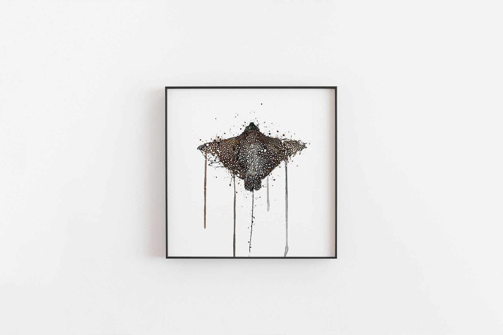 Sea Creature Wall Art Print 'Stingray'-We Love Prints