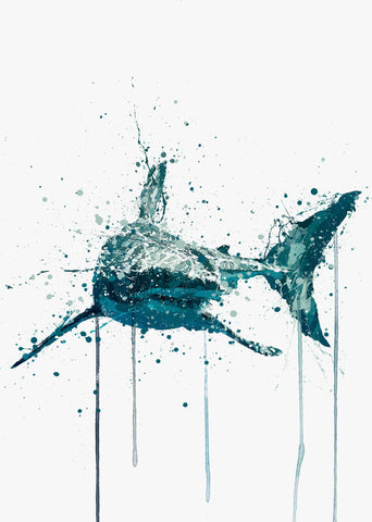 Sea Creature Wall Art Print 'Shark'-We Love Prints