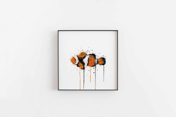 Sea Creature Wall Art Print 'Clownfish'-We Love Prints