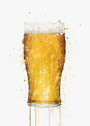 Beer Glass Wall Art Print-We Love Prints