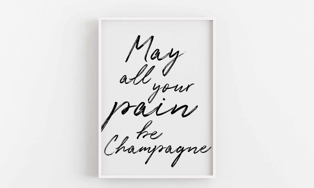 Typographic Wall Art Print 'Champagne'-We Love Prints