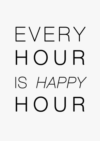 Typographic Wall Art Print 'Happy Hour'-We Love Prints