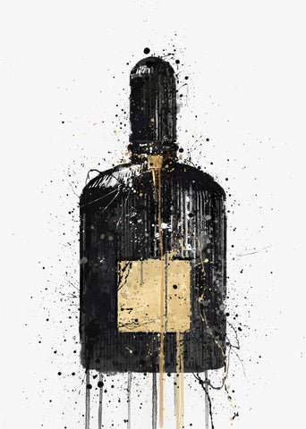Fragrance Bottle Wall Art Print 'Egyptian Gold'-We Love Prints