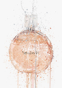 Fragrance Bottle Wall Art Print 'Peachy'-We Love Prints
