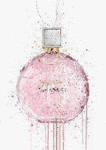 Fragrance Bottle Wall Art Print 'Pastel Pink'-We Love Prints
