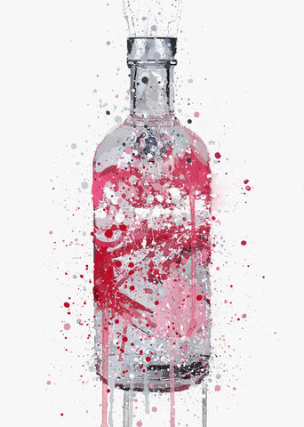 Vodka Bottle Wall Art Print 'Very Berry'-We Love Prints