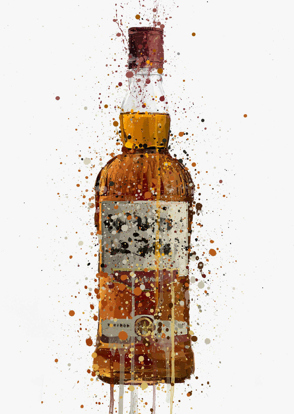 Liquor Bottle Wall Art Print 'Caramel'-We Love Prints