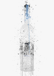 Liquor Bottle Wall Art Print 'Light Grey'-We Love Prints
