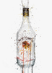 Liquor Bottle Wall Art Print 'Coconut'