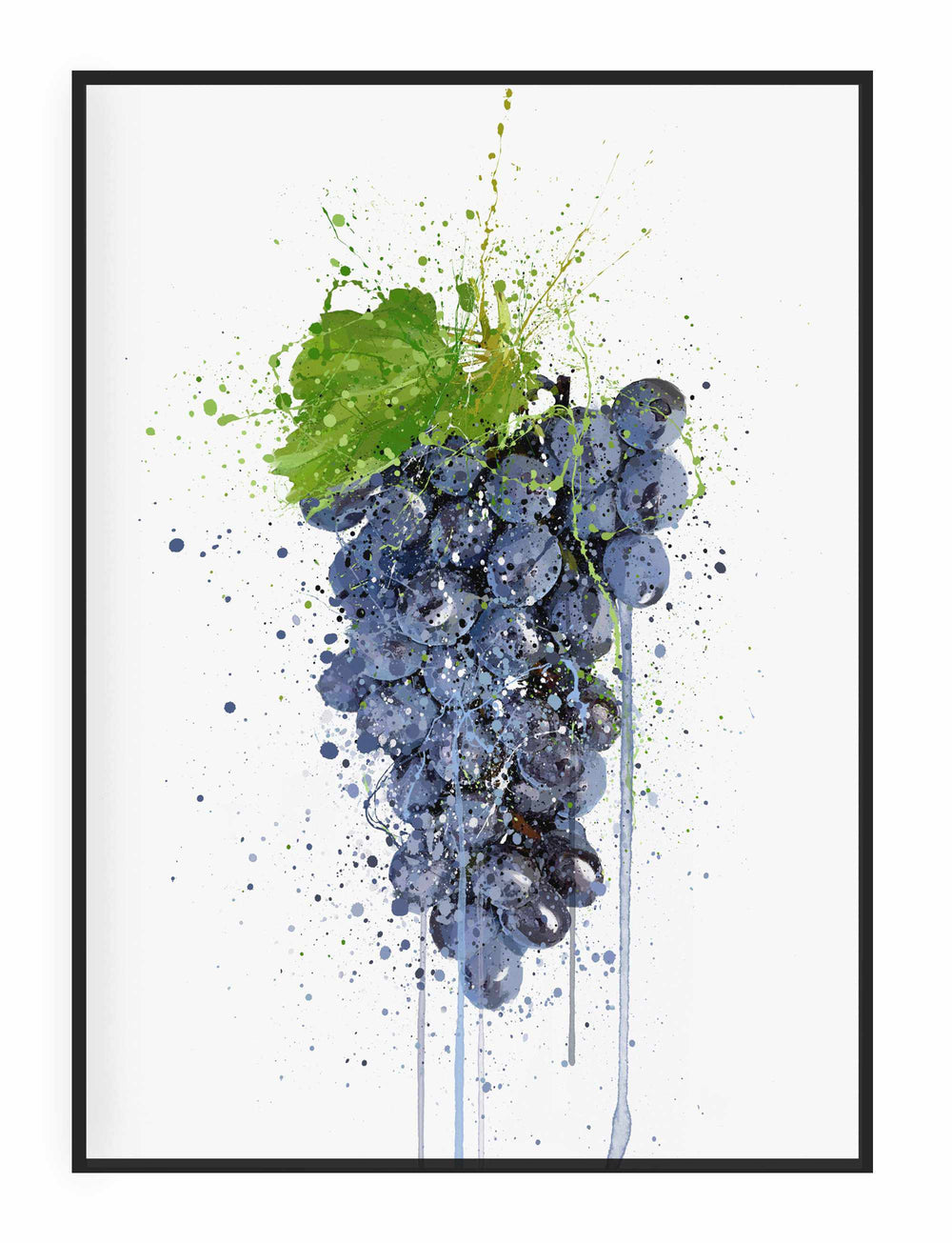 Purple Grape Fruit Wall Art Print-We Love Prints