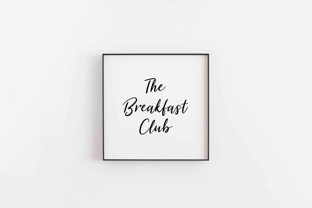 Typographic Wall Art Print 'The Breakfast Club'-We Love Prints