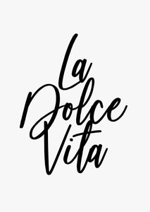 Typographic Wall Art Print 'La Dolce Vita'-We Love Prints