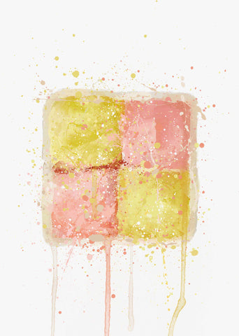 Cake Wall Art Print 'Battenberg'-We Love Prints