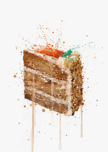 Cake Wall Art Print 'Carrot Cake'-We Love Prints