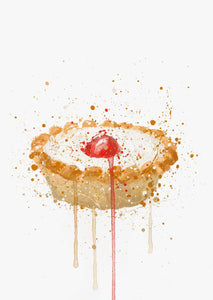 Cake Wall Art Print 'Cherry Bakewell'-We Love Prints