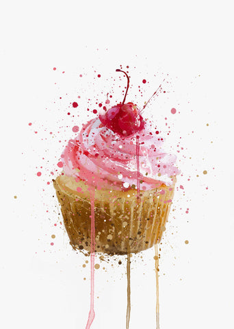 Cake Wall Art Print 'Cupcake'-We Love Prints