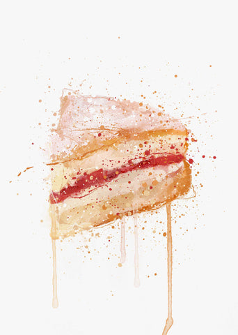 Cake Wall Art Print 'Victoria Sponge'-We Love Prints