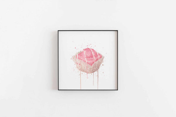 Cake Wall Art Print 'French Fancie Strawberry'-We Love Prints