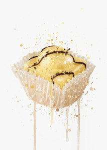 Cake Wall Art Print 'French Fancie Lemon'-We Love Prints