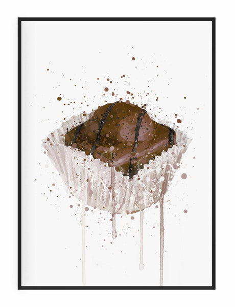 Cake Wall Art Print 'French Fancie Chocolate'-We Love Prints