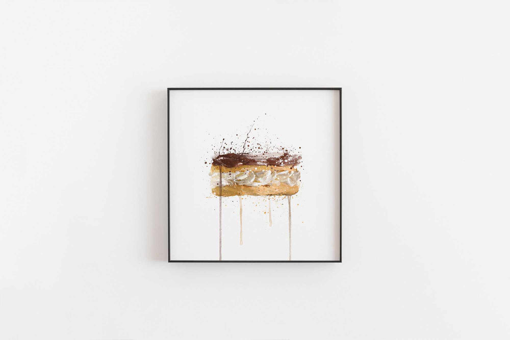 Patisserie Wall Art Print 'Chocolate Eclair'-We Love Prints