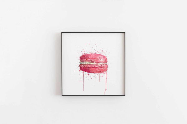 Patisserie Wall Art Print 'Pink Macaron'-We Love Prints