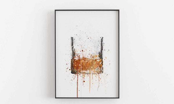 Whiskey Glass Wall Art Print
