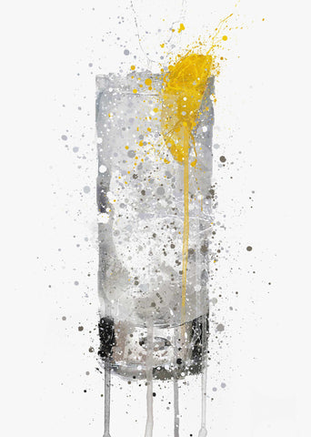 Vodka Glass Wall Art Print