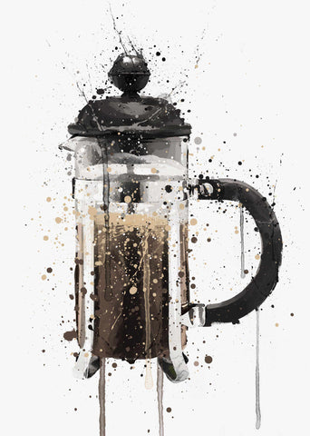 Cafetiere Wall Art Print