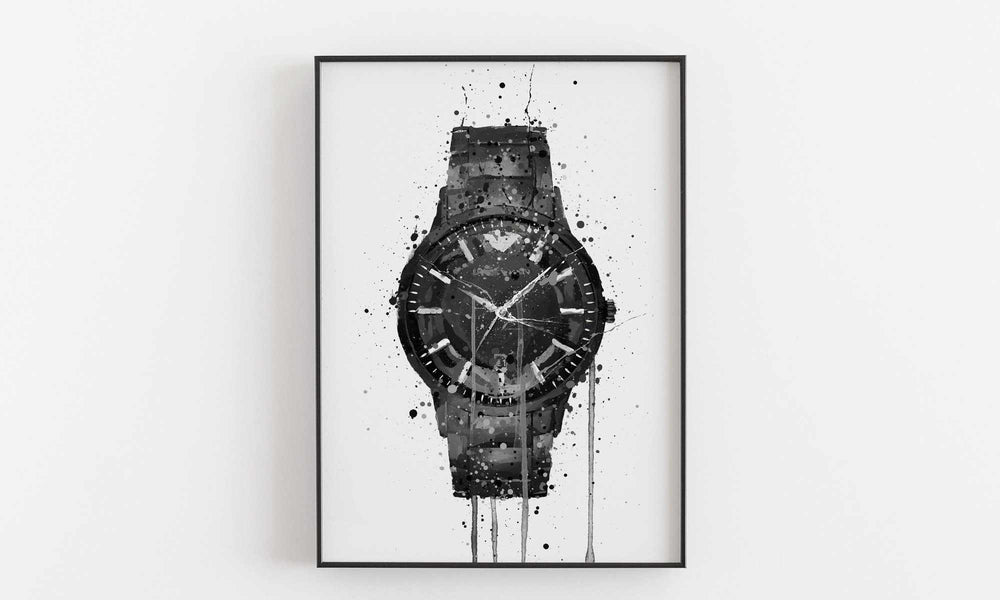 Wrist Watch Wall Art Print 'Raven'