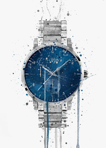Wrist Watch Wall Art Print 'Nebula'