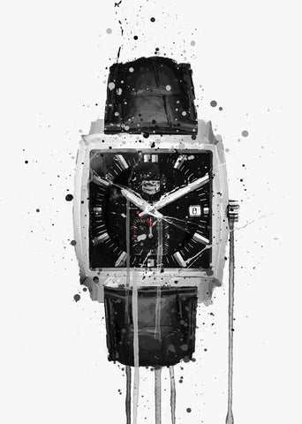 Wrist Watch Wall Art Print 'Smoke'