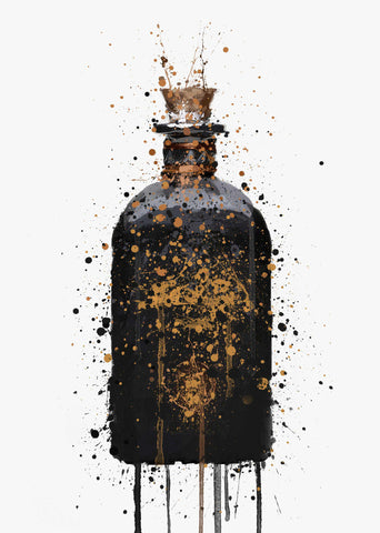 Gin Bottle Wall Art Print 'Alchemy'