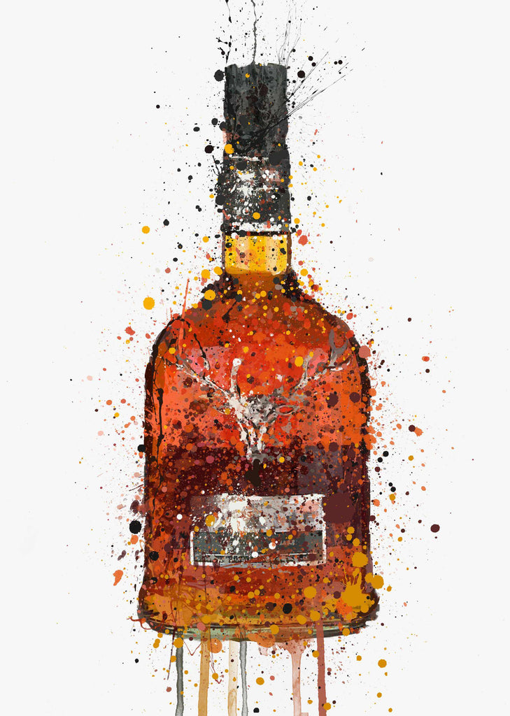 Whiskey Bottle Wall Art Print 'Sienna'