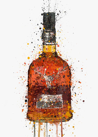 Whisky Bottle Wall Art Print 'Sienna'